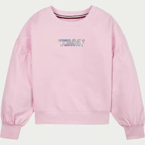 Tommy Hilfiger Girls' Iridescent Badge Crew Neck Sweatshirt - Romantic Pink