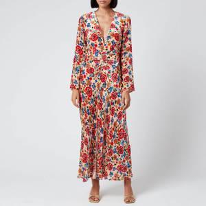 RIXO Women's Mel Maxi Dress - Swirl Floral Print