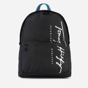 Tommy Hilfiger Men's TH Signature Backpack - Black