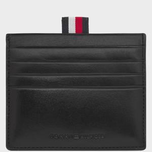 Tommy Hilfiger Men's Polished Leather Slide Card Holder - Black