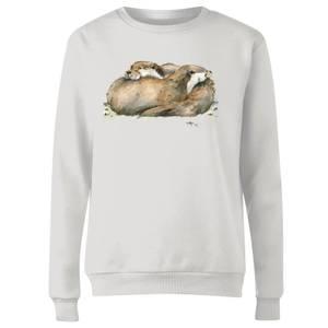 Snowtap Otters Women's Sweatshirt - White