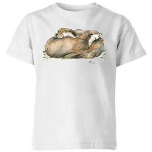 Snowtap Otters Kids' T-Shirt - White