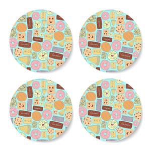 Snowtap Vibrant Biscuits Coaster Set