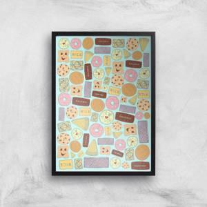 Snowtap Vibrant Biscuits Giclee Art Print