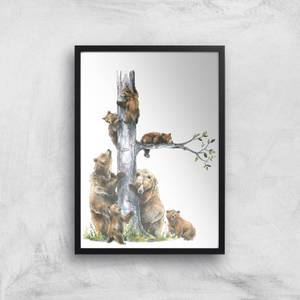 Snowtap Big Bear Family Giclee Art Print