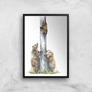 Snowtap Family Of Three Giclee Art Print