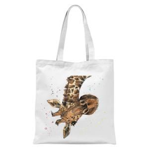 Snowtap Giraffe Tote Bag - White