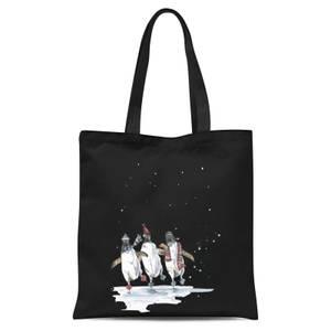 Snowtap Penguins Tote Bag - Black