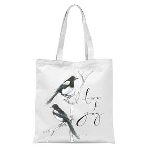 Snowtap Two For Joy Tote Bag - White