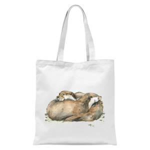 Snowtap Otters Tote Bag - White