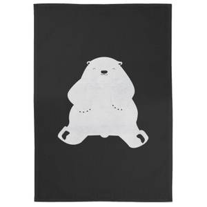 Snowtap Polar Bear Cotton Tea Towel - Black