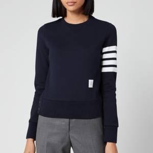 Thom Browne Women's Classic Sweatshirt In Classic Loop Back - Navy