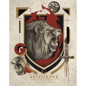 Harry Potter Art Print : Gryffindor Crest