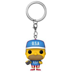 The Simpsons USA Homer Pop! Keychain