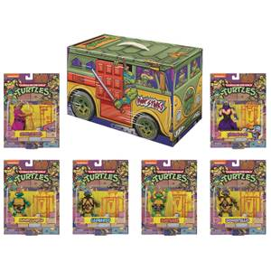 Playmates TMNT Retro Rotocast PX 6 Piece Action Figure Set - SDCC Exclusive