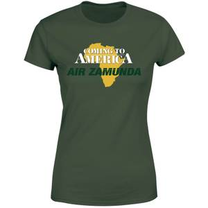 T-shirt Coming to America Air Zamunda - Vert Forêt - Femme