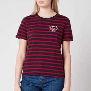 Superdry Women's Heritage Stripe T-Shirt - Navy Stripe