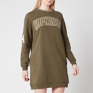 Superdry Women's Coded Sweat Dress - Olive Night