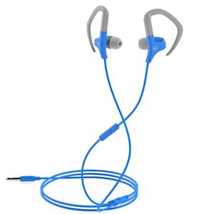 Mixx Cardio Sports Earphones with Mic Remote - Grey/Blue