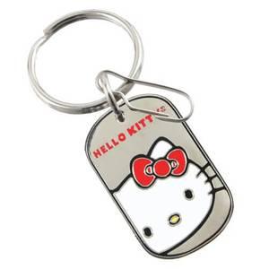 Hello Kitty Core Tag Enamel Key Chain
