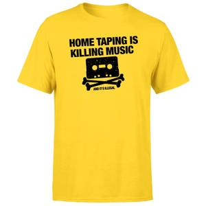 Home Taping Is Killing Music Black Men's T-Shirt - Yellow