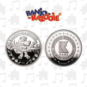 Banjo Kazooie Limited Edition Collectible Coin - Silver Edition