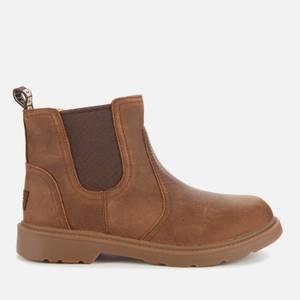UGG Kids' Bolden Waterproof Leather Chelsea Boots - Walnut