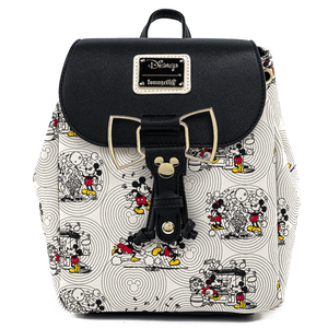 Loungefly Disney Sac à Dos Minnie & Mickey avec Noeud
