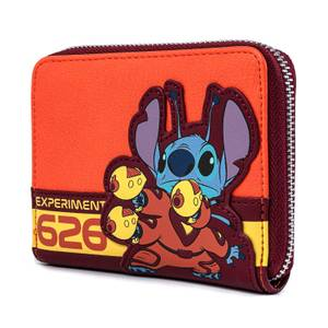 Loungefly Lilo And Stitch Experiment 626 Zip Around Wallet