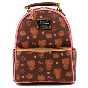 Loungefly Hello Kitty Pumpkin Spice Aop Mini Convertible Backpack