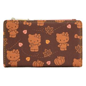 Loungefly Hello Kitty Pumpkin Spice Aop Flap Wallet
