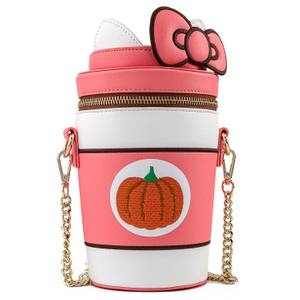 Loungefly Sac à Bandoulière Gobelet Pumpkin Spice Hello Kitty