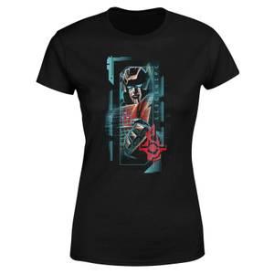 Transformers Sideswipe Glitch Women's T-Shirt - Black