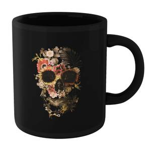 Ikiiki Garden Skull Mug - Black