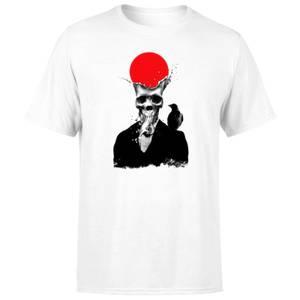 Ikiiki Splash Skull Men's T-Shirt - White
