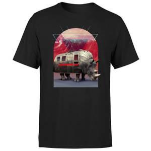 Ikiiki Rhino Men's T-Shirt - Black