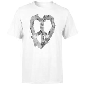 Ikiiki Peace Heart Men's T-Shirt - White