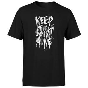 Ikiiki Keep The Spirit Alive Men's T-Shirt - Black