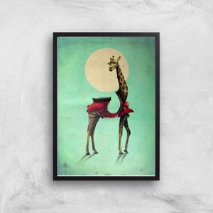 Ikiiki Giraffe Giclee Art Print