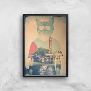 Ikiiki Cool Cat Giclee Art Print