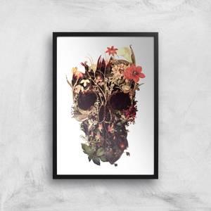 Ikiiki Bloom Skull Giclee Art Print
