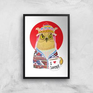 Ikiiki Summer Owl Giclee Art Print