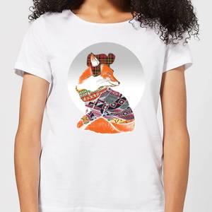 Ikiiki Winter Fox Women's T-Shirt - White