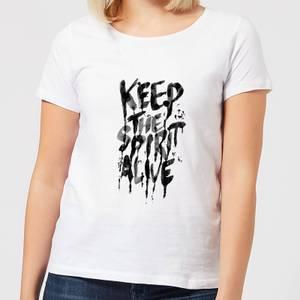 Ikiiki Keep The Spirit Alive Women's T-Shirt - White