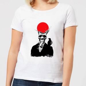 Ikiiki Splash Skull Women's T-Shirt - White