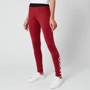 HUGO Women's Delessie Leggings - Open Red