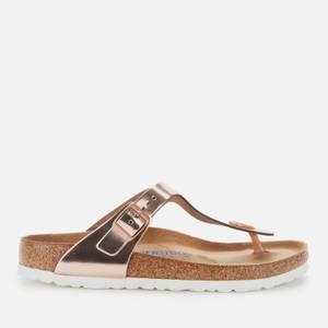Birkenstock Womens's Gizeh Nl WB Sandals - Metallic Copper