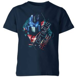 Transformers Optimus Prime Glitch Kids' T-Shirt - Navy
