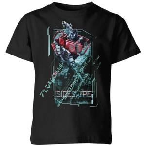 T-shirt Transformers Sideswipe Tech - Noir - Enfants