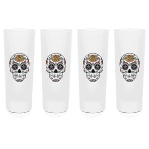 Sugar Skull Shot Glasses - Set of 4